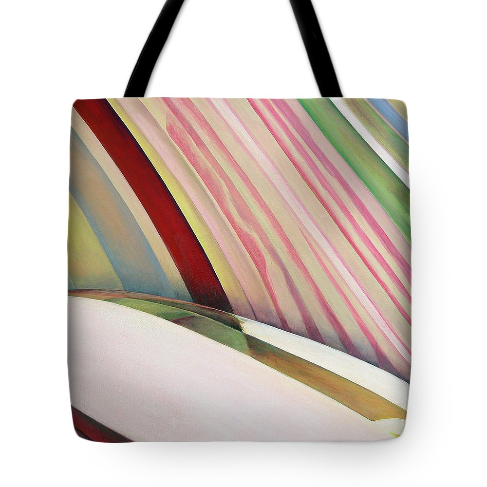 Abstract Tote Bag featuring the painting Sens 1 by Muriel Dolemieux