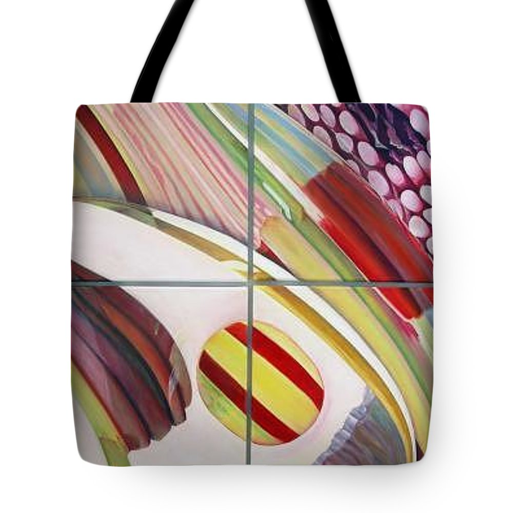 Abstract Tote Bag featuring the painting Sens by Muriel Dolemieux