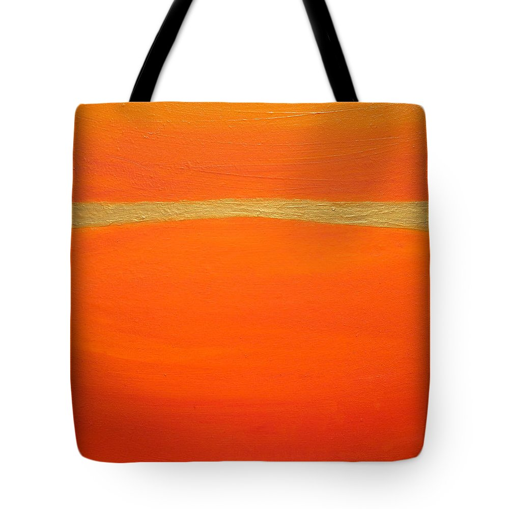 Orange Tote Bag featuring the painting Sensation by Holly Anderson