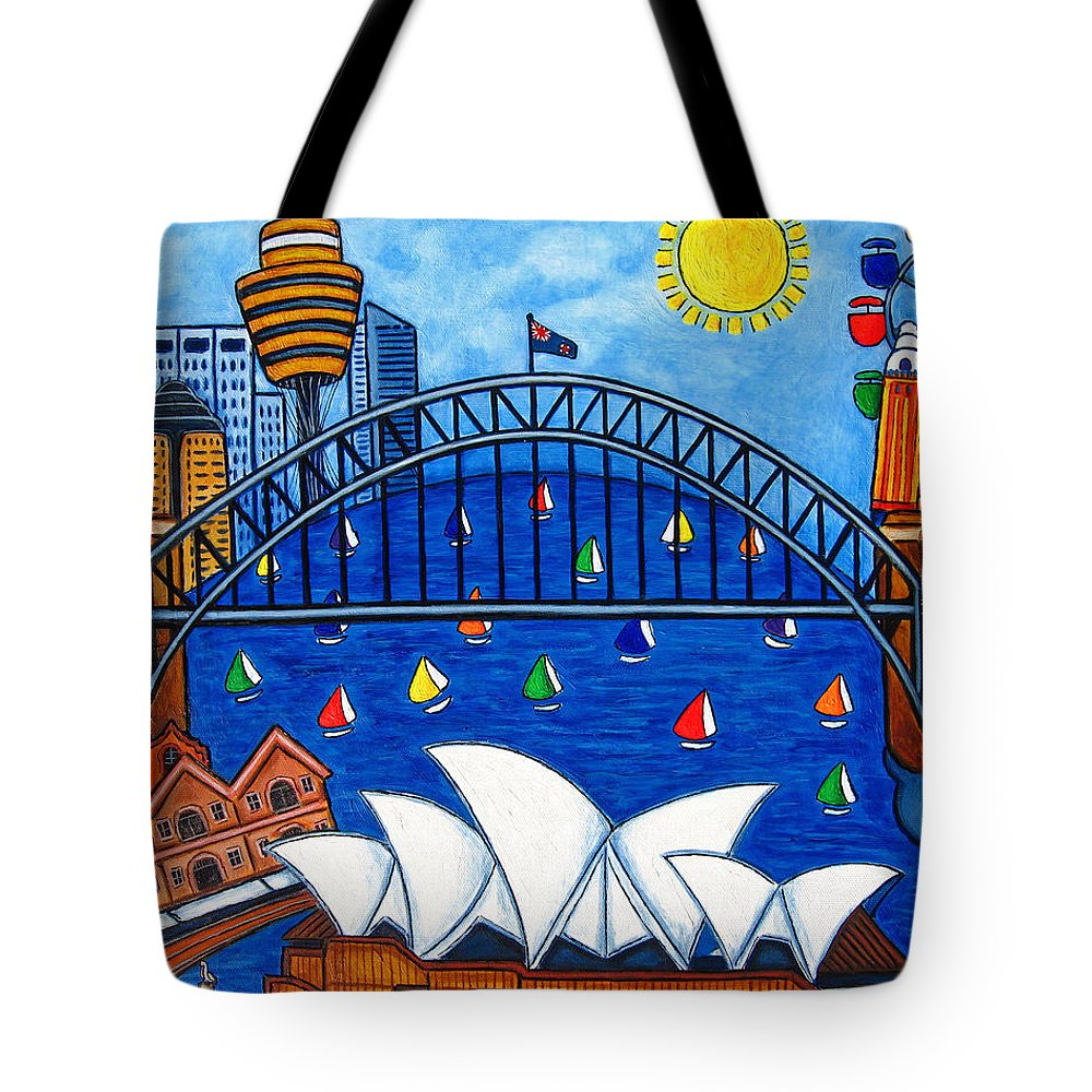 House Tote Bag featuring the painting Sensational Sydney by Lisa Lorenz