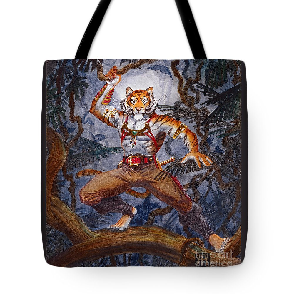 Cat Tote Bag featuring the painting Sense Dark by Melissa A Benson