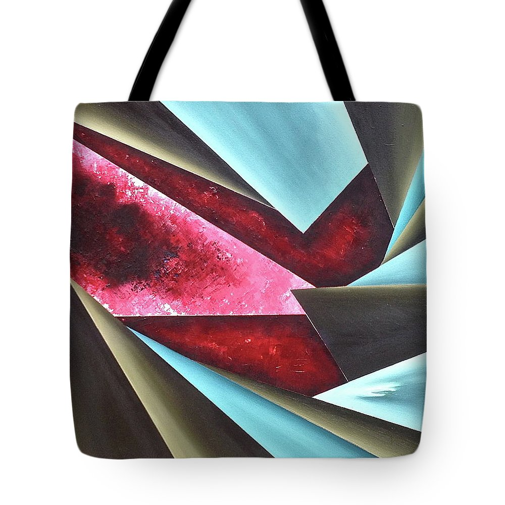 Tote Bag featuring the painting Sense of Reality by Ara Elena