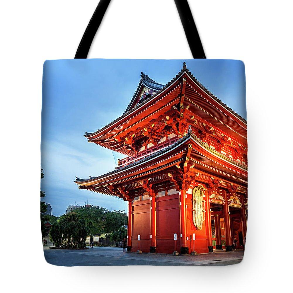 Tokyo Tote Bag featuring the photograph Sensoji Temple by Jane Rix