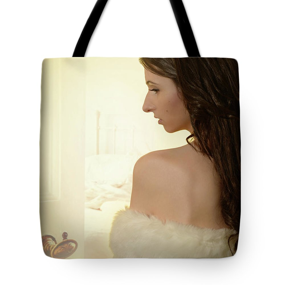 Boudoir Tote Bag featuring the photograph Sensual Woman by Amanda Elwell