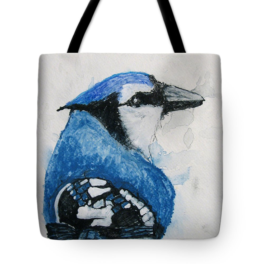 Watercolor Tote Bag featuring the painting Sentimental Blue by Patricia Arroyo