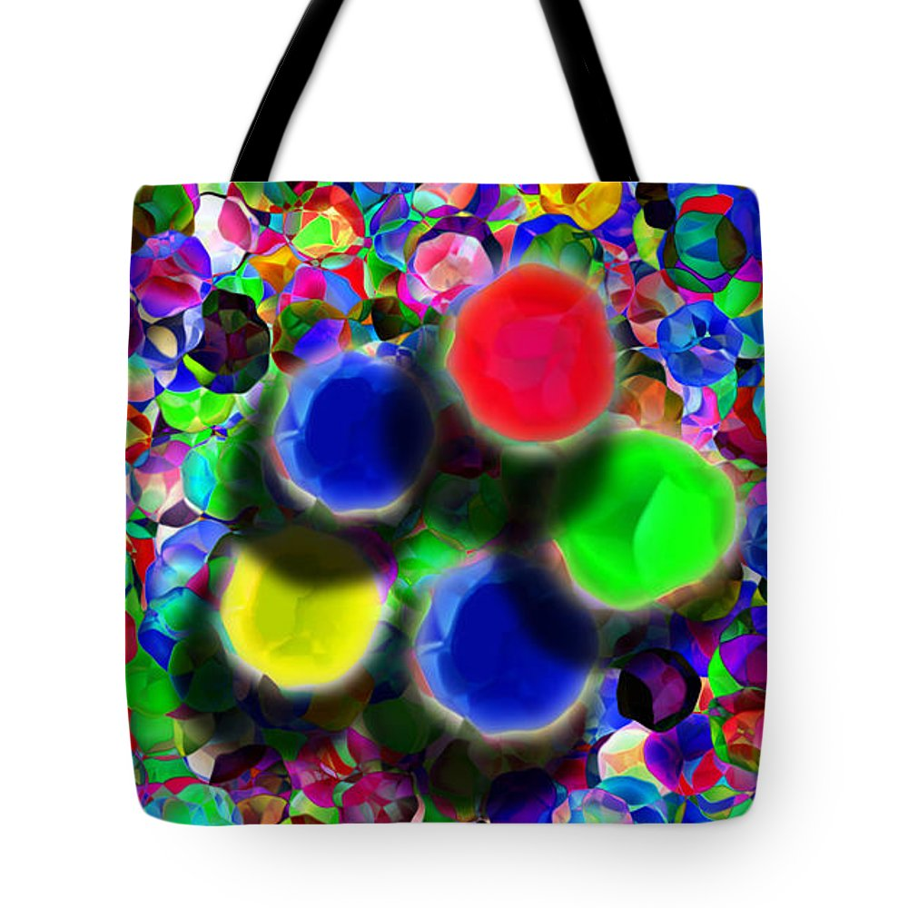 Abstract Tote Bag featuring the digital art Separation Anxiety by Jeff Breiman