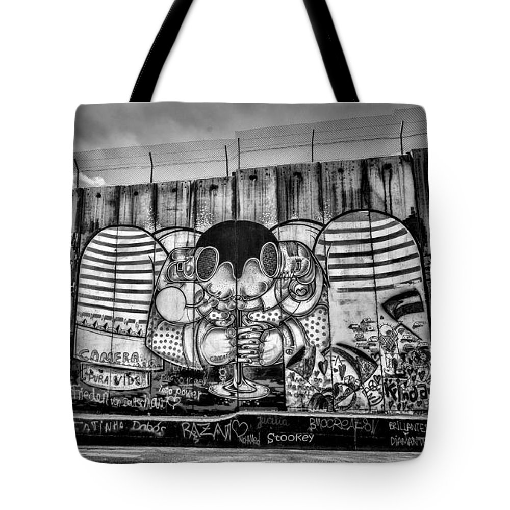Graffiti Tote Bag featuring the photograph Separation by Stephen Stookey