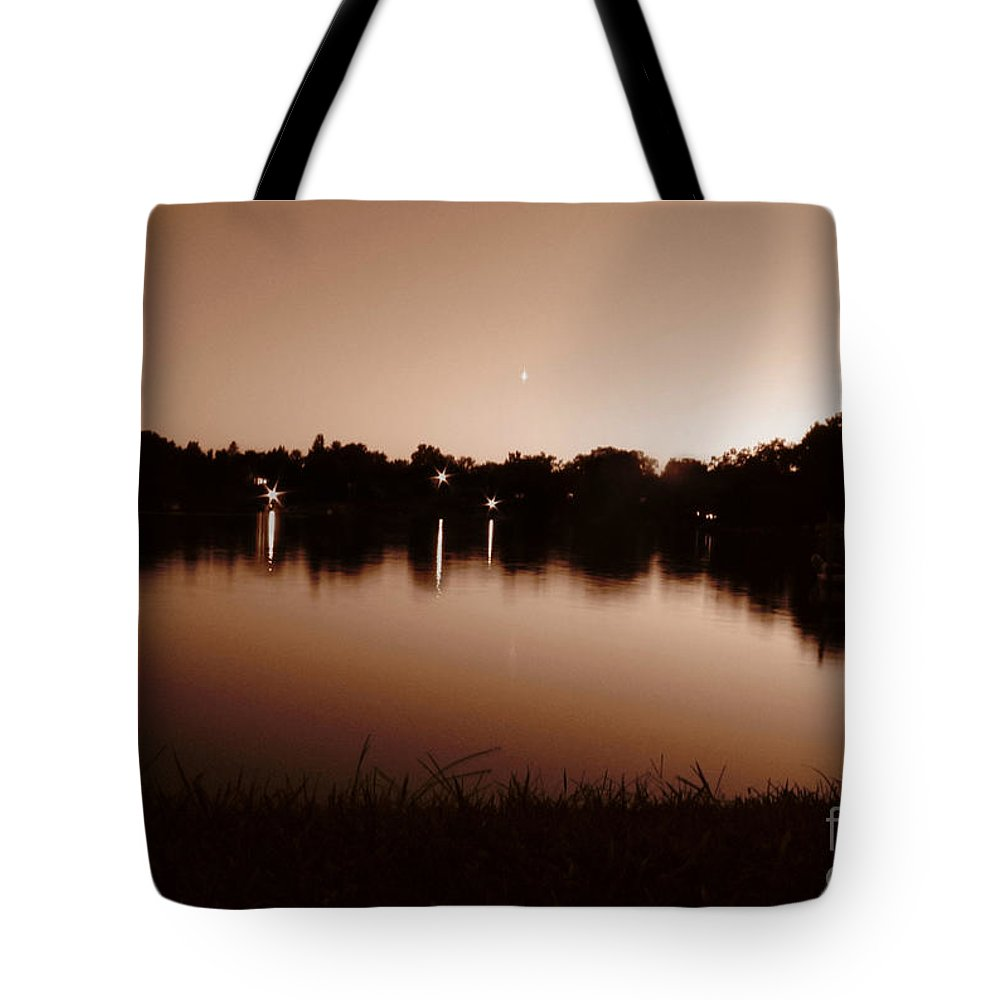 Sunset Tote Bag featuring the photograph Sepia Sunset by September Stone