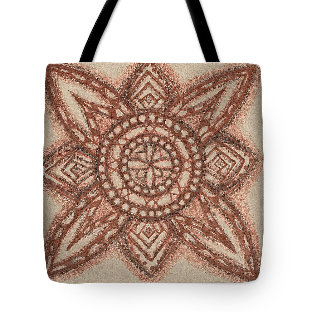 Abstract Tote Bag featuring the mixed media Sepia Zen 2 by Kitty Perkins