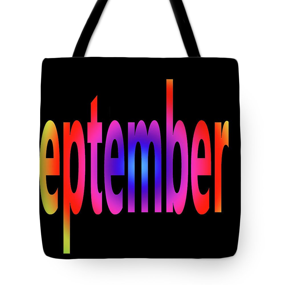 September Tote Bag featuring the digital art September 4 by Day Williams