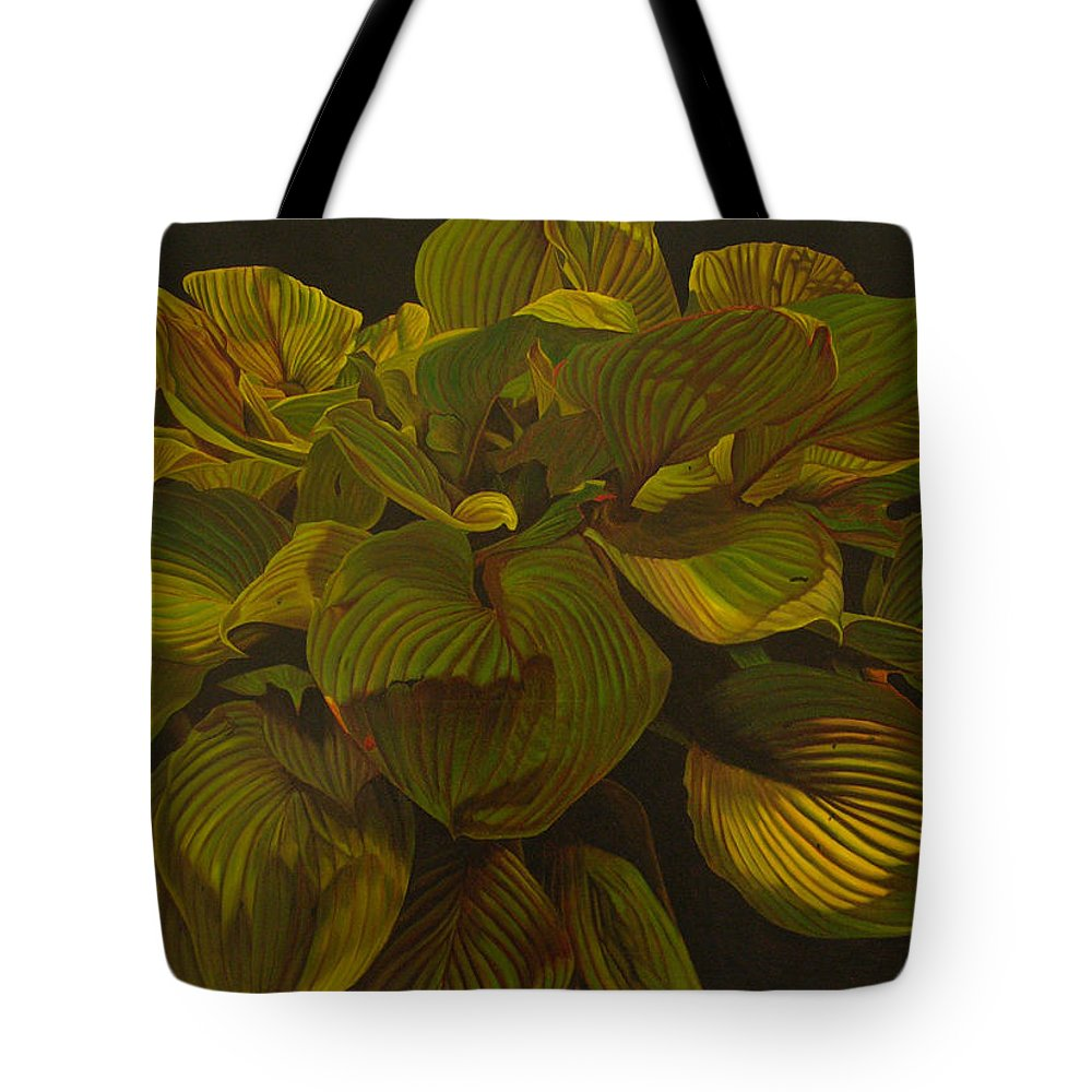 Plant Tote Bag featuring the painting September Night by Thu Nguyen