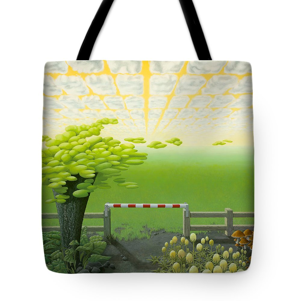 Tree Tote Bag featuring the painting September by Patricia Van Lubeck
