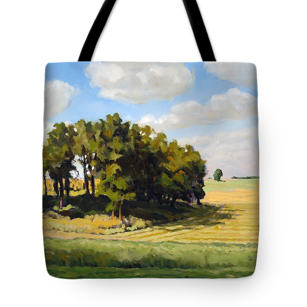 Landscape Tote Bag featuring the painting September Summer by Bruce Morrison