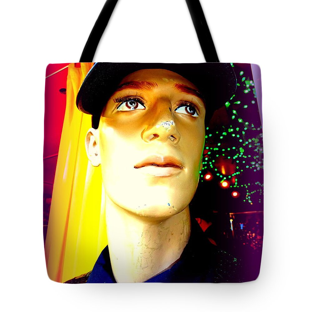 Mannequins Tote Bag featuring the photograph Sequin Sam by Ed Weidman