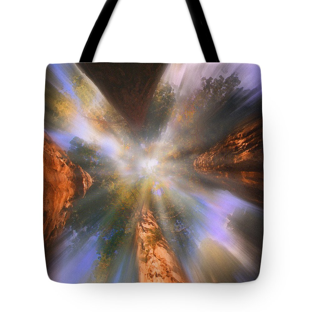 Sequoia Tote Bag featuring the painting Sequoia by Robby Donaghey