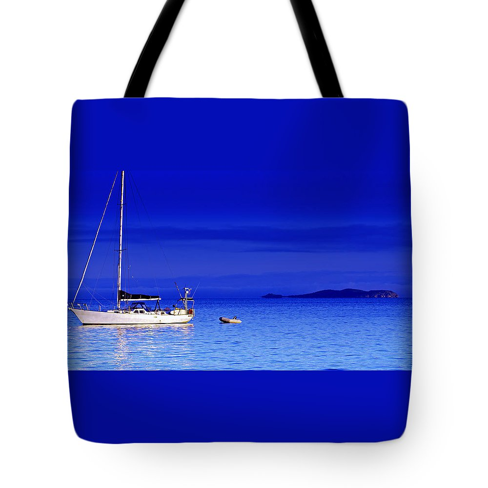 Transportation. Boats Tote Bag featuring the photograph Serene Seas by Holly Kempe