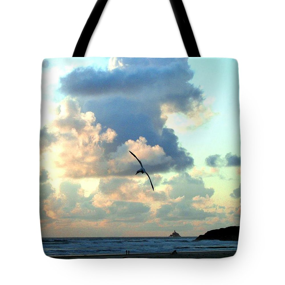 Sunset Tote Bag featuring the photograph Serene Sunset by Will Borden