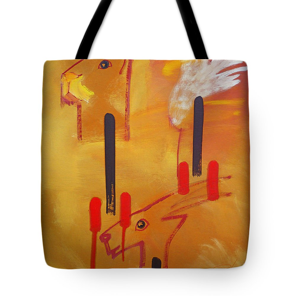 Lion Tote Bag featuring the painting Serengeti by Charles Stuart