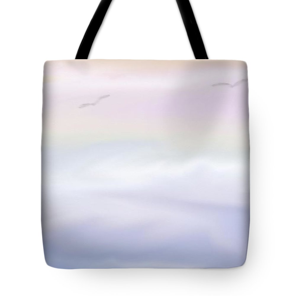 Sea Tote Bag featuring the digital art Serenity by Gina Lee Manley