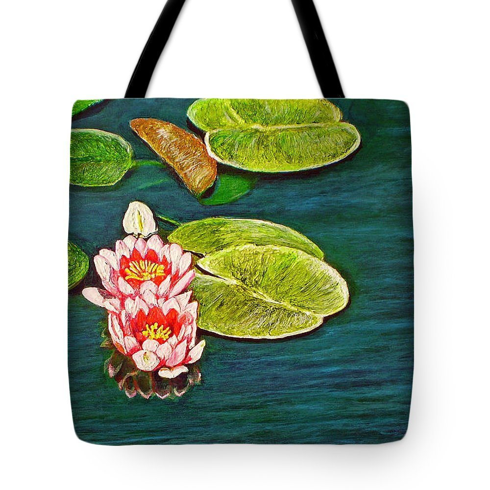 Water Lily Tote Bag featuring the painting Serenity by Michael Durst