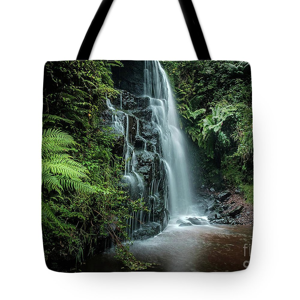 Waterfall Tote Bag featuring the photograph Serenity by Sinclair Adair