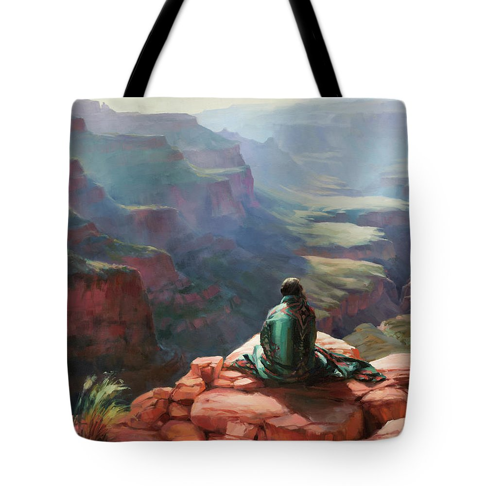 Southwest Tote Bag featuring the painting Serenity by Steve Henderson