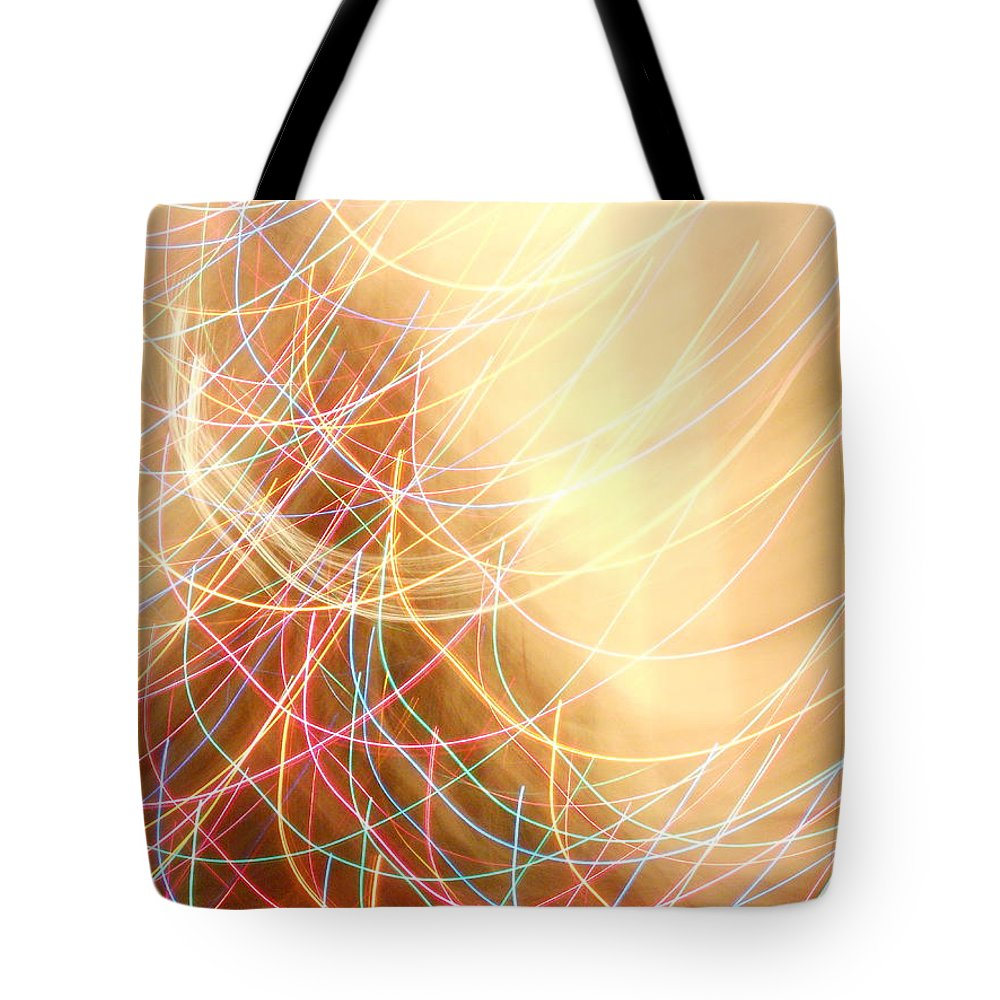 Color Tote Bag featuring the photograph Series Dancing Lights 3 by Gail Schmiedlin