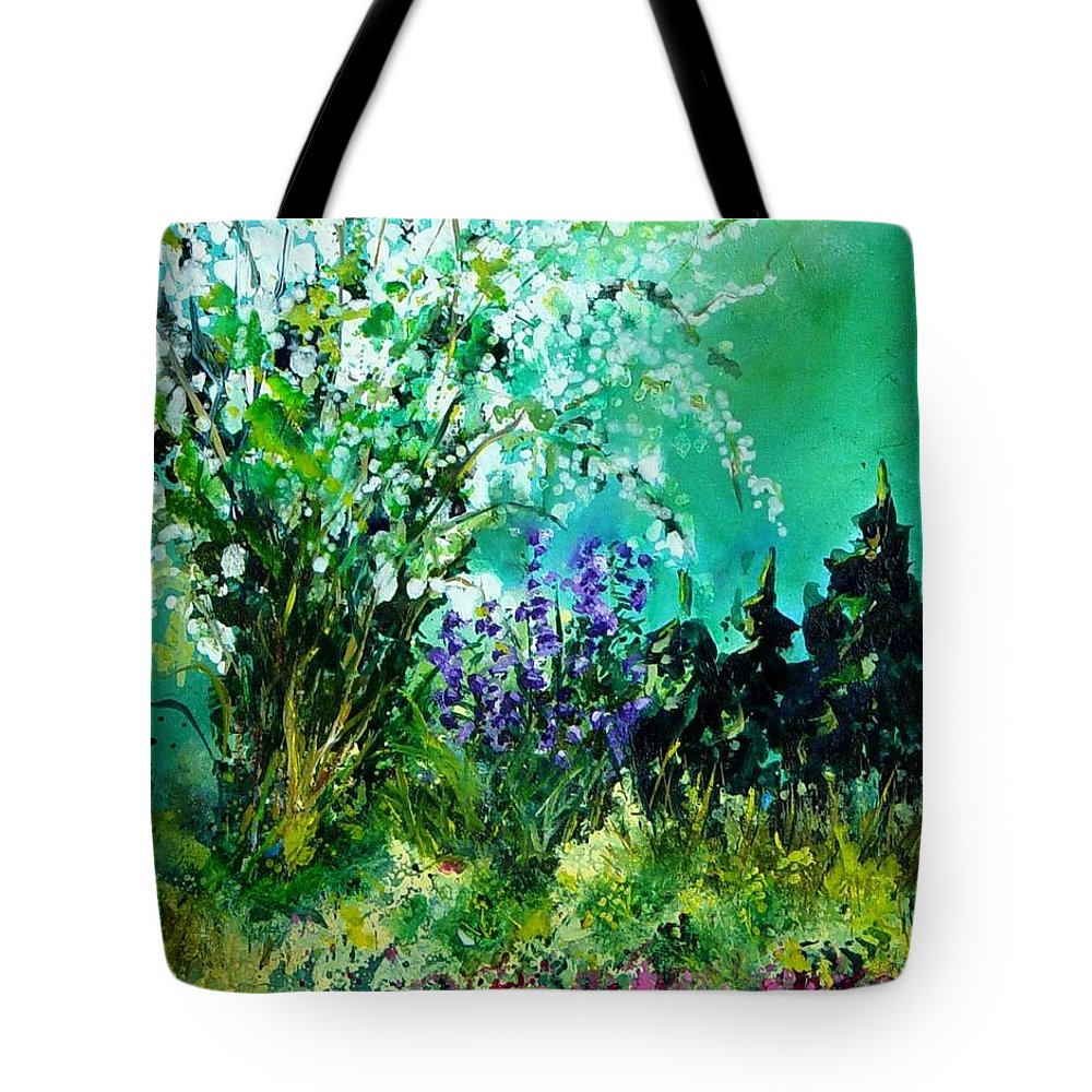 Tree Tote Bag featuring the painting Seringa by Pol Ledent