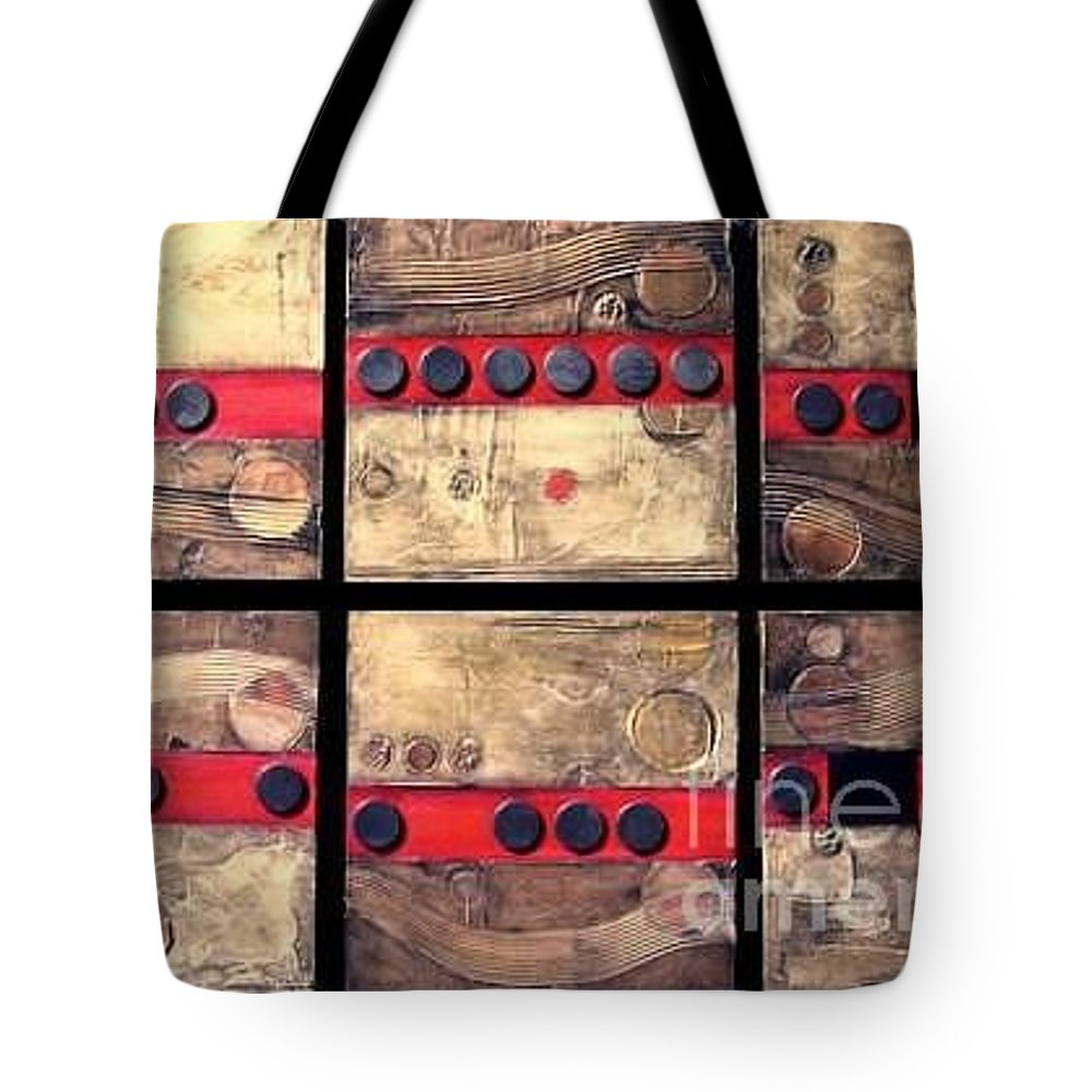 Set Tote Bag featuring the painting Seriously Metallic by Marlene Burns