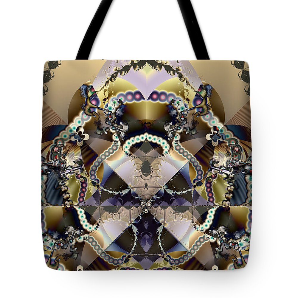Abstract Tote Bag featuring the digital art Serpentine by Jim Pavelle