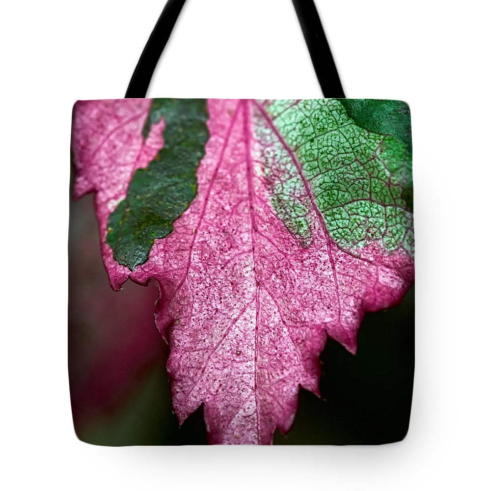Flora Tote Bag featuring the photograph Serrated by Christopher Holmes