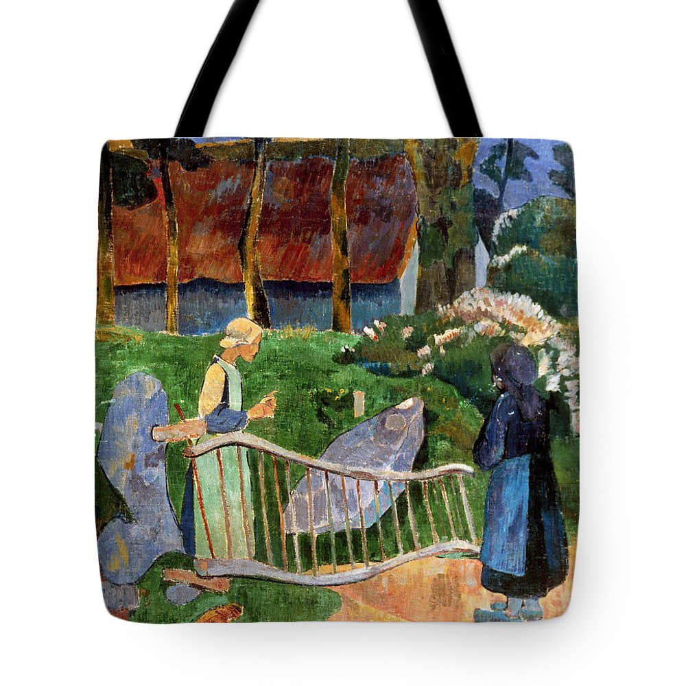 1889 Tote Bag featuring the photograph Serusier: Barriere, 1889 by Granger