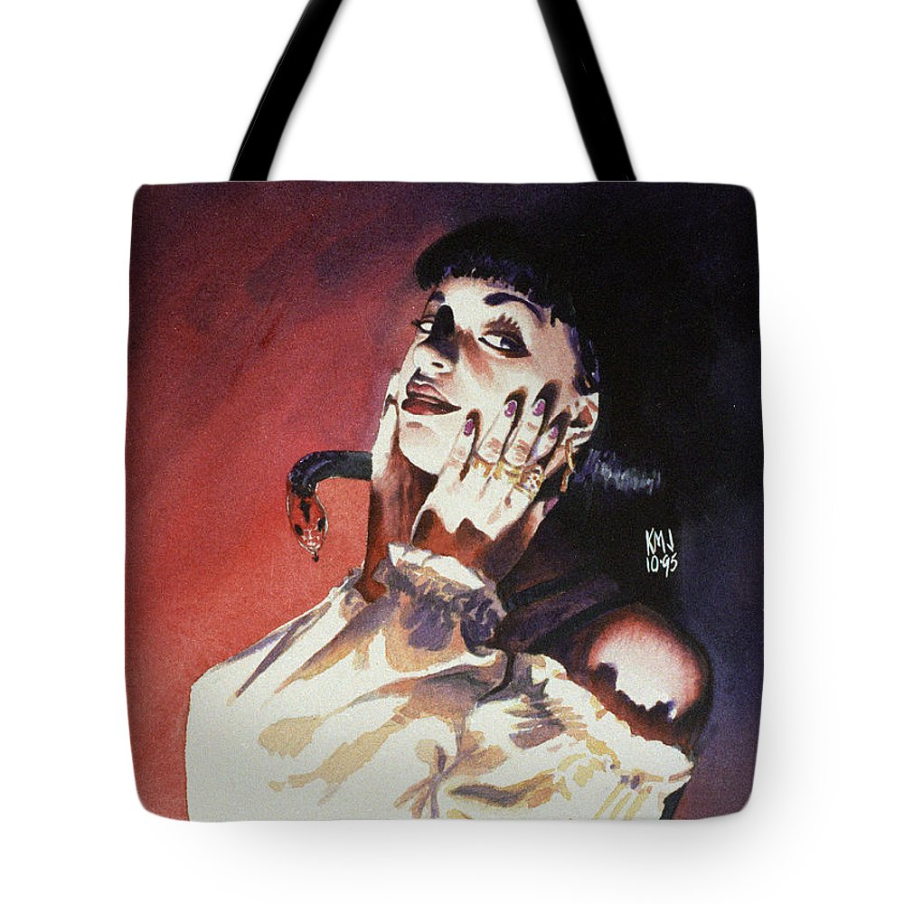 Women Tote Bag featuring the painting Set by Ken Meyer jr