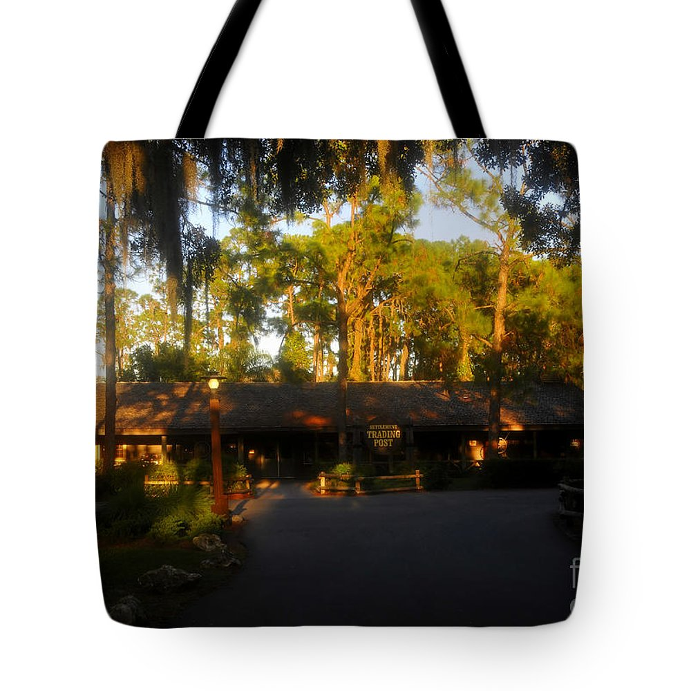 Settlement Post Tote Bag featuring the photograph Settlement Trading Post by David Lee Thompson
