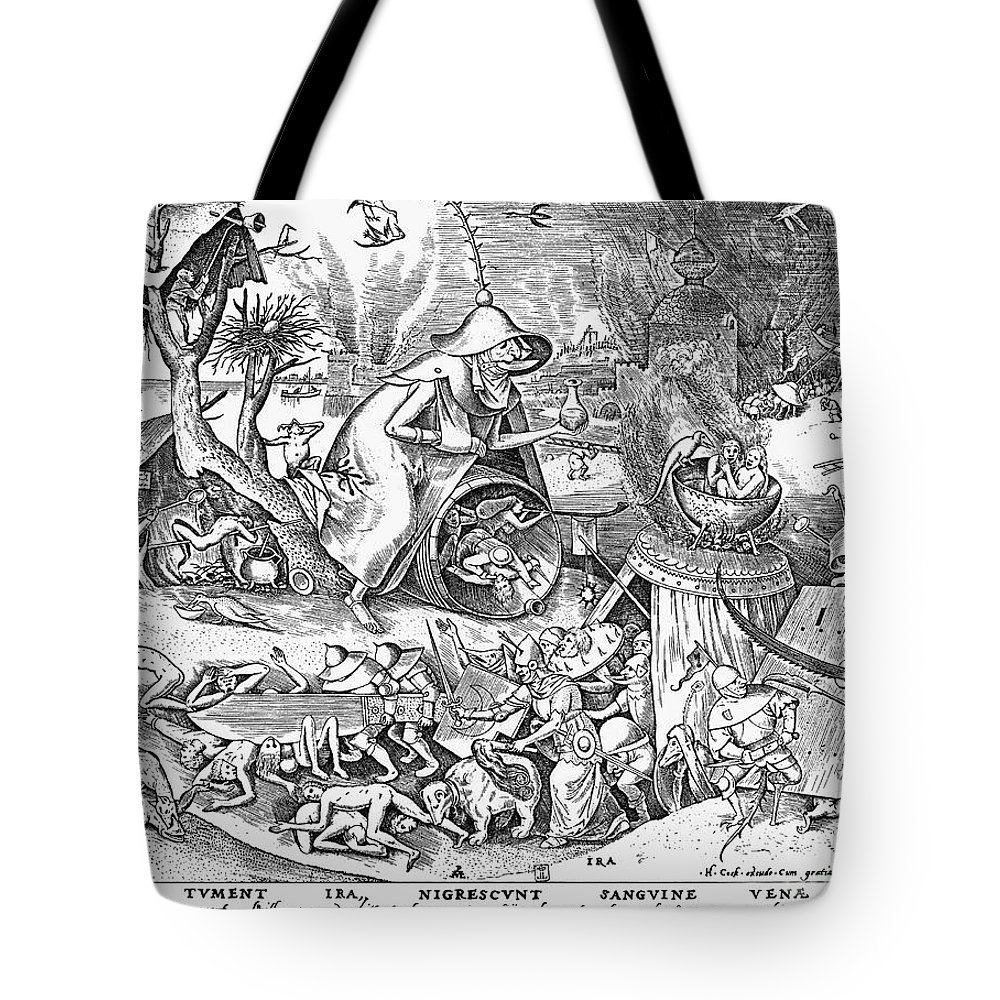 1557 Tote Bag featuring the photograph Seven Deadly Sins: Anger by Granger