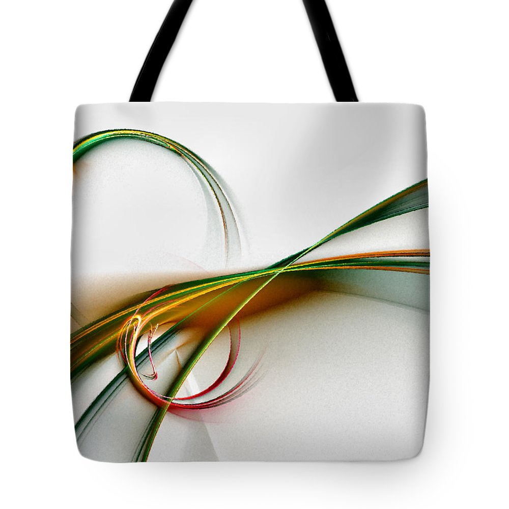 Abstract Tote Bag featuring the digital art Seven Dreams - Fractal Art by NirvanaBlues