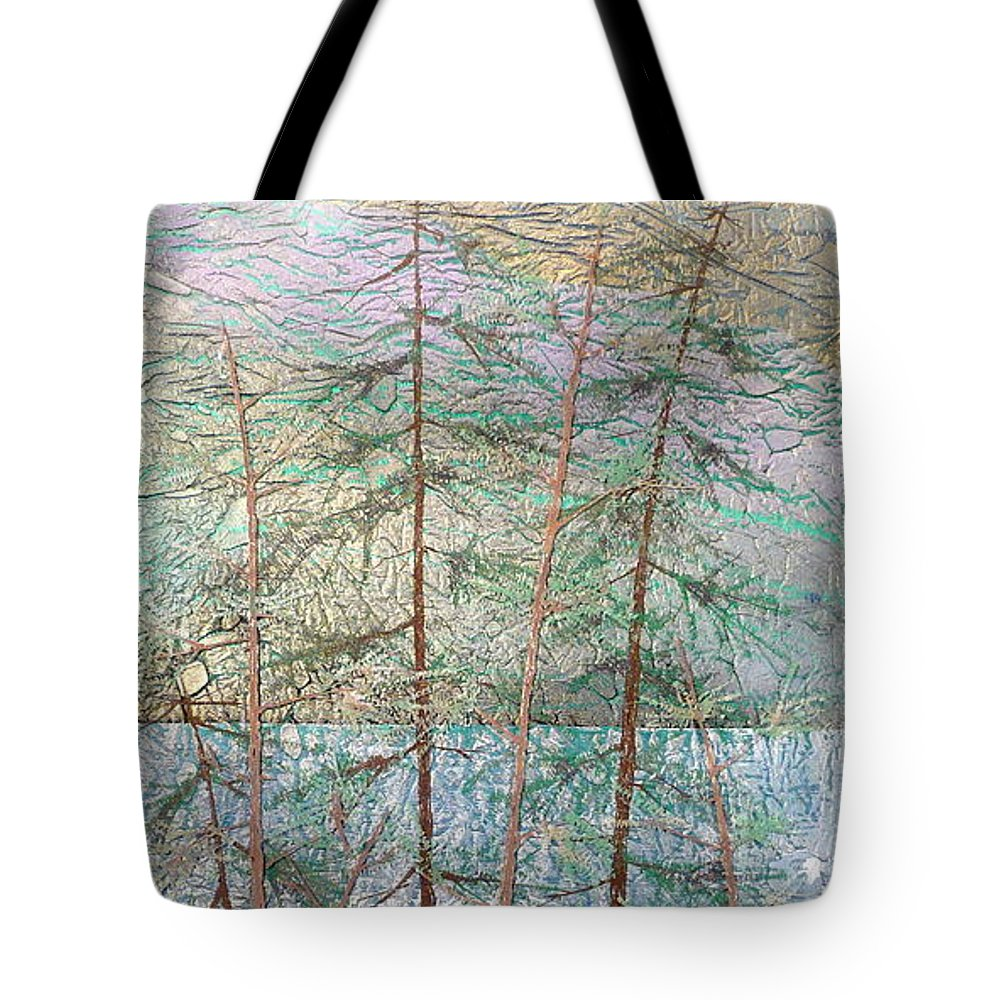 British Columbia Tote Bag featuring the painting Seven by Rick Silas