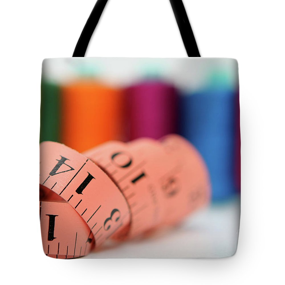 Selective Focus Tote Bag featuring the photograph Sewing Kit by Yedidya yos mizrachi