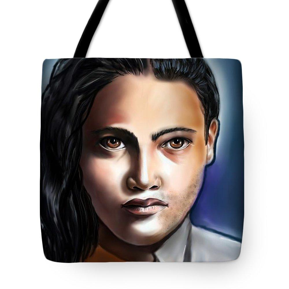 Sex Identity Tote Bag featuring the digital art Sex Identity Crisis -who Am I? by Carmen Cordova