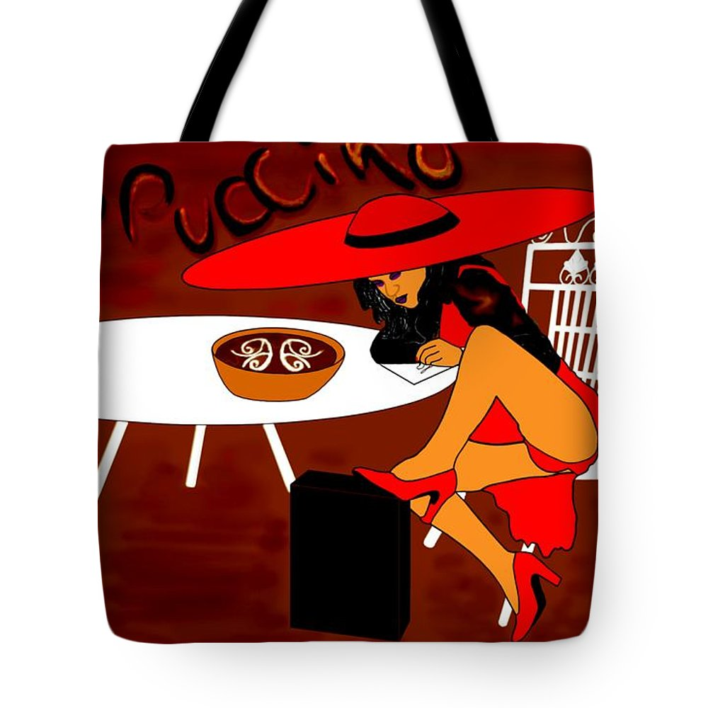 Cappuccino Tote Bag featuring the digital art Sexy Cappuccino by Helmut Rottler