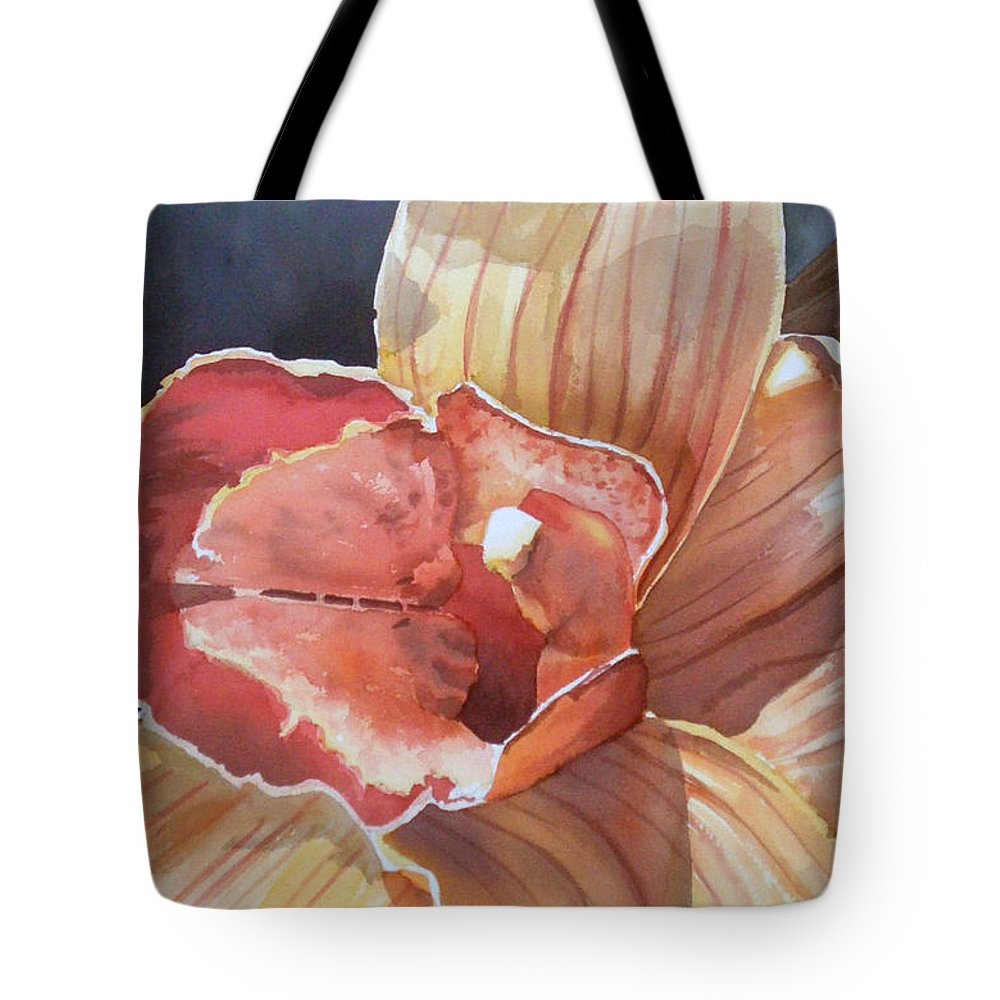 Flower Tote Bag featuring the painting Sexy by Tatiana Escobar