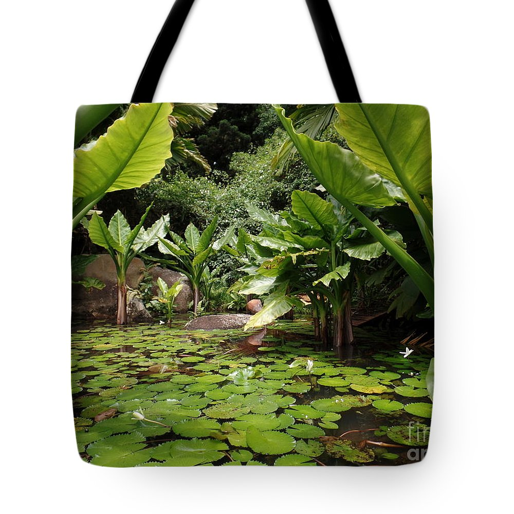 Seychelles Islands Tote Bag featuring the photograph Seychelles Islands Pond by John Potts