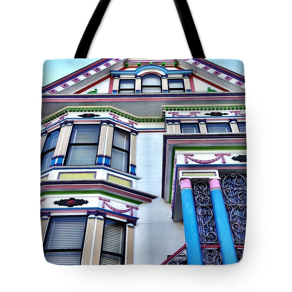 Tote Bag featuring the photograph SF Colors by Julie Gebhardt
