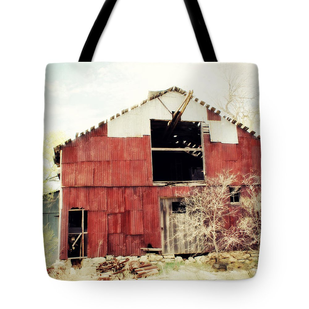 Barn Tote Bag featuring the photograph Shabby by Julie Hamilton