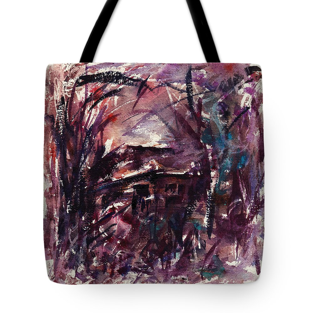 Shack Tote Bag featuring the painting Shack Second Movement by Rachel Christine Nowicki