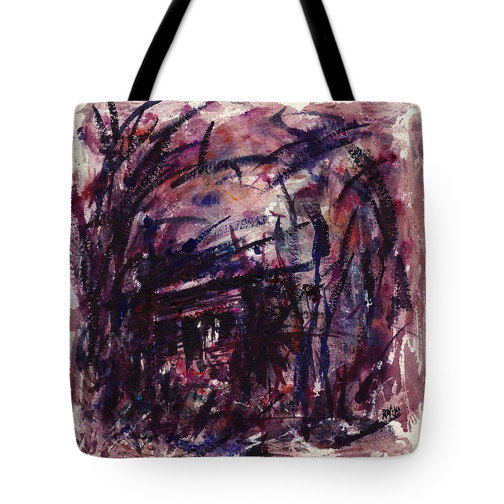 Shack Tote Bag featuring the painting Shack Third Movement by Rachel Christine Nowicki