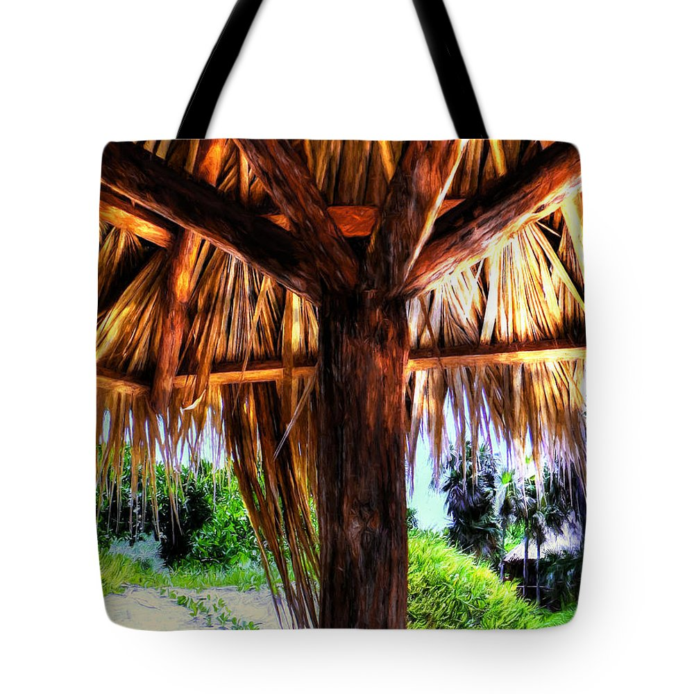 Shade Tote Bag featuring the photograph Shade On The Beach by Pennie McCracken