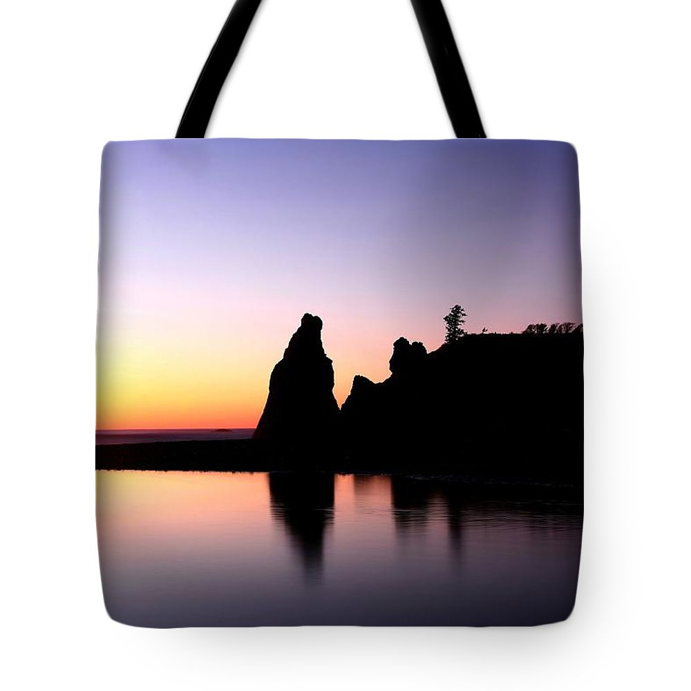 Sunset Tote Bag featuring the photograph Shades Of Evening by Winston Rockwell