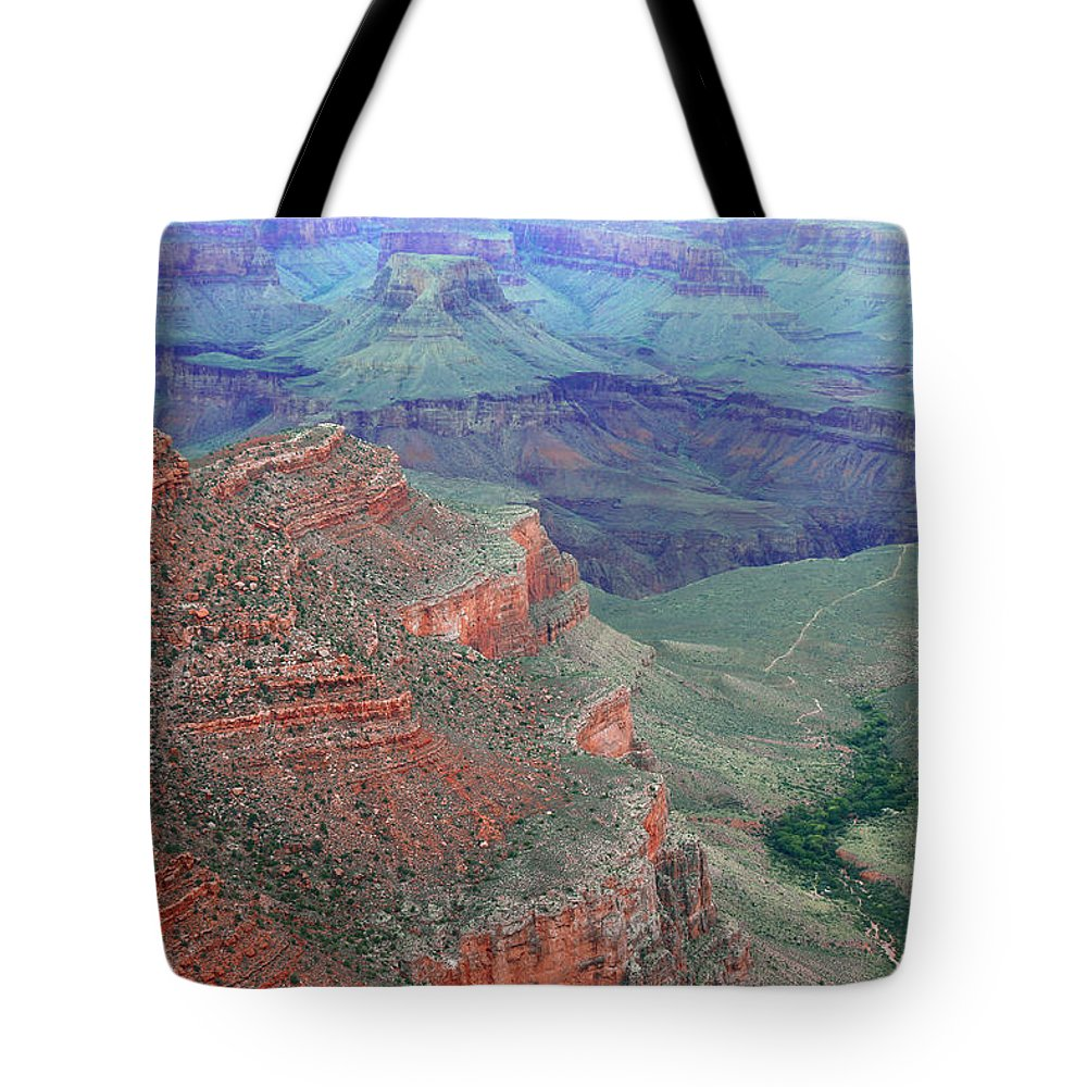 Grand Canyon National Park Tote Bag featuring the photograph Shades Of The Canyon by Iryna Goodall