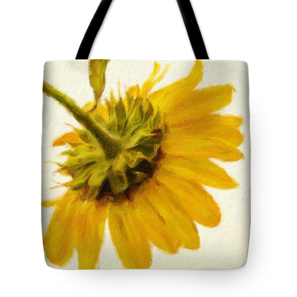 Sunflower Tote Bag featuring the photograph Shades Of Yellows by Alice Gipson